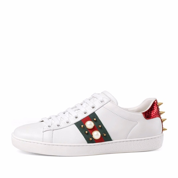 95263d4d903 Gucci Shoes - Gucci Women s New Ace Studded Web Low-Top Sneakers